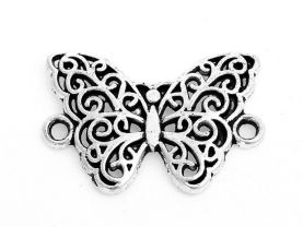 10 Butterfly Connectors for Jewelry Making