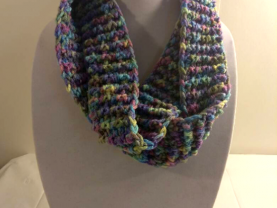 Winter inifinity scarf - ribbed texture