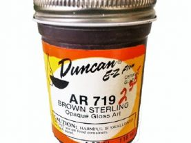 Duncan EZ Flow Ceramic Glaze  Brown Sterling AR 719