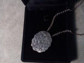 Damaged pattern necklace-Artisan Silver Necklace_Handmade 925 silver