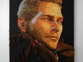 Handmade Cullen, Dragon Age portrait, Cullen wall art