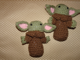 Baby Yoda Plushie Toy Crocheted Amigurumi