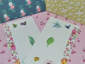 Floral Butterfly Envelopes with 8 Sheets of Designer Paper group
