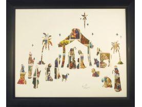 "Vintage Postage Stamp Art - ""Nativity Scene"""