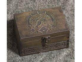 Vikings - Drakkar themed wooden jevelery box/casket