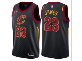 Men's Cleveland Cavaliers #23 LeBron James Black Statement Jersey