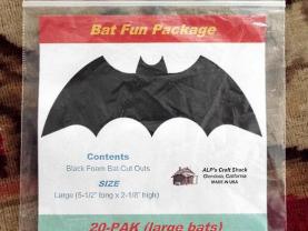 20-PAK Black Foam Bat Cutouts / Halloween Decorations